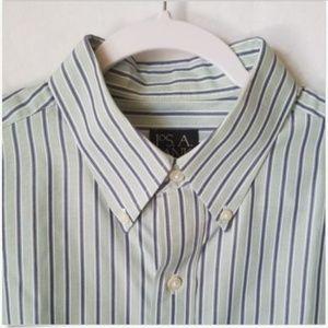 Jos. A. Bank Striped Dress Shirt Large
